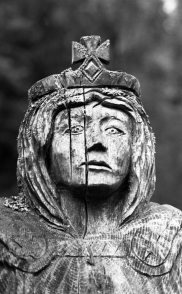 One of a group of statues at Tintern Station, Wales. Contax RTS II, Kodak Tri-X in HC-110 for a stand development.