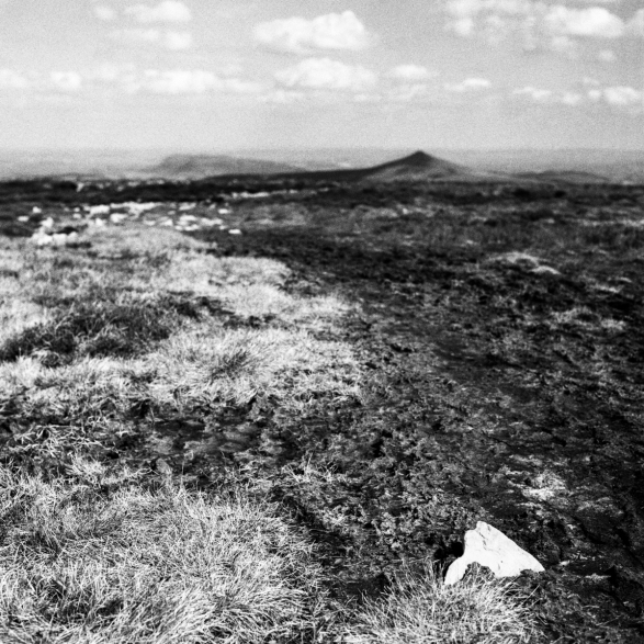 Ysgyryd Fawr and Sugar Loaf from Pen Cerrig Calch. HP5+.