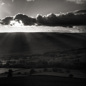 A sunset from Crug Hywel.