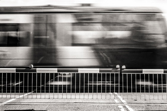 Passing by.