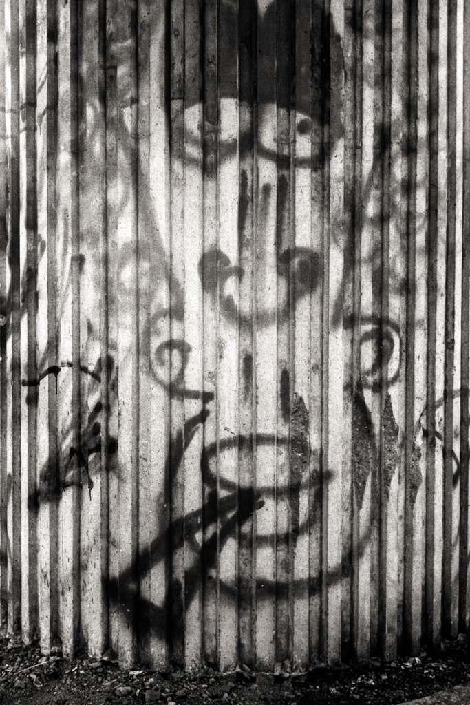 Graffiti on Pillar, Chepstow.