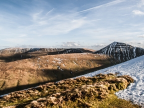 The Pen y Fan range, the tallest mountain in South Wales.
