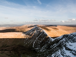 From Pen y Fan with the Eastern Black Mountains in the distance,